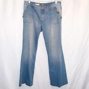 Kut From The Kloth Jeans Jane Super Flare Sz 8